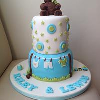Welcome baby boy's cake