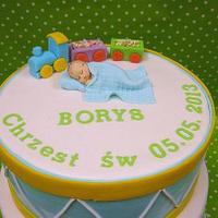 Christening cake by Wanda