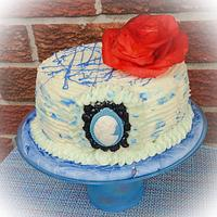 Blue Themed Birthday Cake
