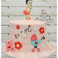 Baby girl shower ~ girly pink vintage.