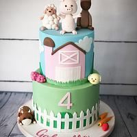 Cute farm yard cake