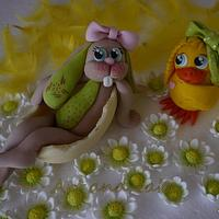 Easter cake toppers..
