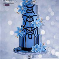 A wedding cake inspired by a Versace dress.