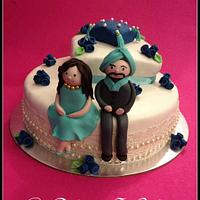 Indian Wedding Cake  by devinasoni