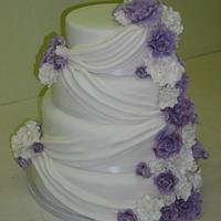 drapes and roses cake
