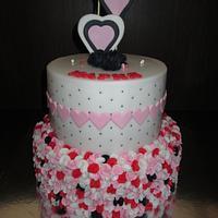 Heart Ruffle Cake