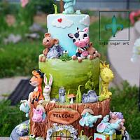 Animals Home Cake