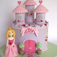 Sleeping Beauty Princess Castle Cake