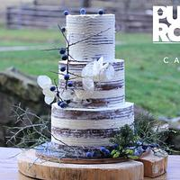 Fairy Fall Wedding Cake - blackthorn fruit