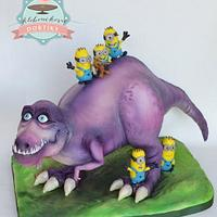 T- Rex and Minions