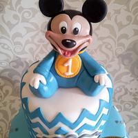 Baby Mickey and chevron