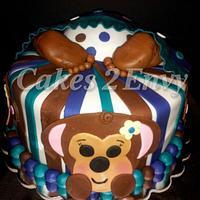 Baby Bottom Baby Shower Cake
