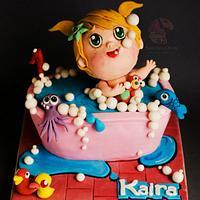 Baby Bath Tub Cake