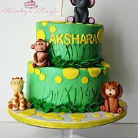 Animal Safari Cake