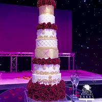Seven tier floral tower