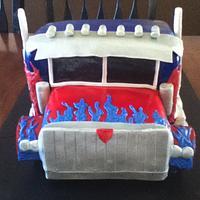 Optimus Prime Cake by Dayna Robidoux
