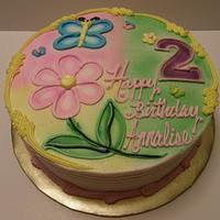Airbrushed B-Day Cake by lanett
