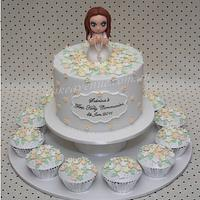 Girl's Communion Cake by CakeAvenue