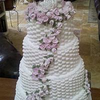 Basket Weave Wedding Cake by Loretta