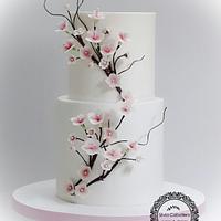 Cherry blossom cake!