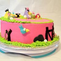 Girlie Angry Birds by Dawn Henderson