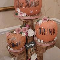 """""""Eat,Drink, We're Married"""" Pumpkins"""