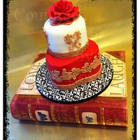 a LADY and her Cake by couturecakesbyrose