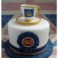 "Diamond Jubilee 6"" cake & teacup"