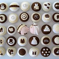 Wedding cupcakes as featured in Gurmet magazine by Hana Rawlings