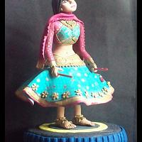 Fondant Garba Dancer