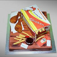 Chicken and chips cake