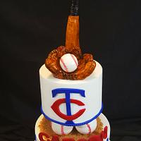 Baseball birthday cake  .