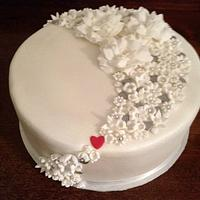 My hearts and flowers cake