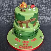 Campfire Birthday Cake