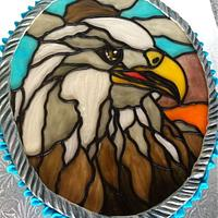 Stained Glass Bald Eagle
