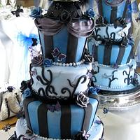 Corspe Bride & Groom Wedding Cake