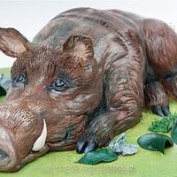 Wild Hog cake / tort w kształcie dzika