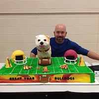 Bulldogs football cake