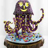 Happy Octo - CakerBuddiesCollaborationCake