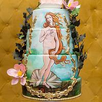 The birth of venus cake