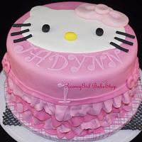 Hello Kitty Ruffle Cake