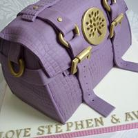 'Mulberry' handbag cake