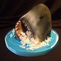 Shark Week Cake