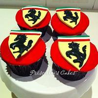 Ferrari themed cupcakes by Priscilla's Cakes