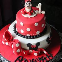 Baby Minnie Polka Dots Cake