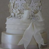 3D Lace Wedding Cake