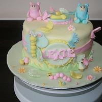 Billy and BamBam 1st Birthday Cake
