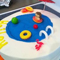 swimming pool cake by Jen Scott