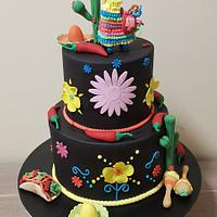Mexican Themed Fiesta Cake