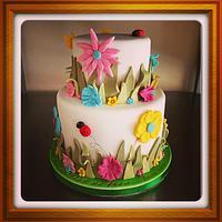 Garden flower cake